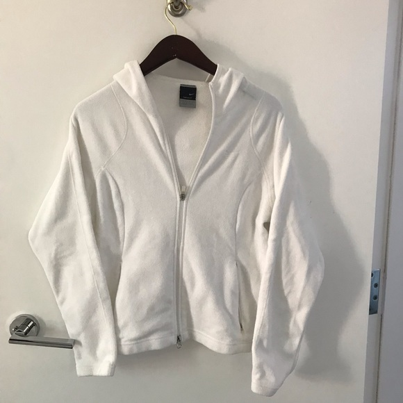Nike Sweaters - White, Nike, Thermafit zip up sweater (M)